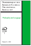 Proceedings of the American Catholic Philosophical Association